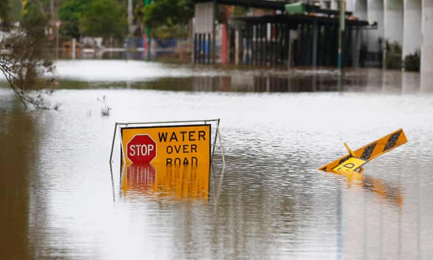 Parts of Lismore, Australia affected by floodwaters on April 2, 2017.
