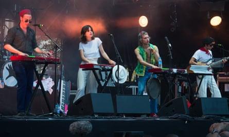 La Femme perform at the Rock en Seine festival in August.