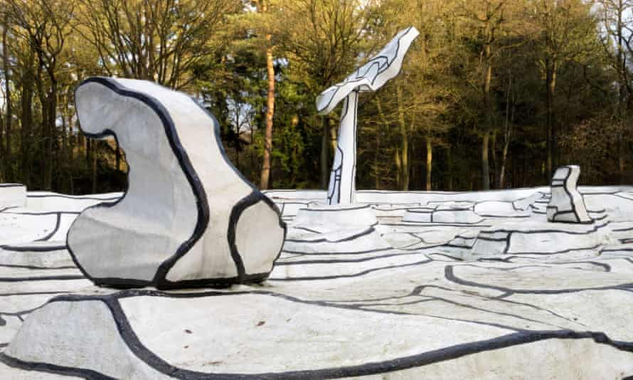 Sculpture Jardin d'email by Jean Dubuffet at Kroller-Muller Museum in the Netherlands