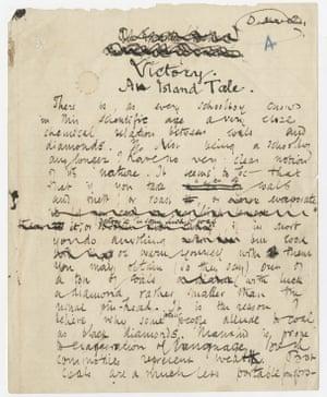 From Joseph Conrad's handwritten manuscript of Victory (1914).