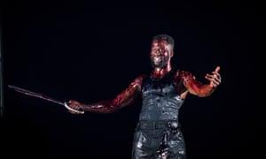 Martial vigour … Sope Dirisu as Coriolanus at the Royal Shakespeare theatre, Stratford-upon-Avon.