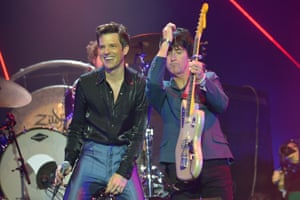 Brandon Flowers and Johnny Marr.