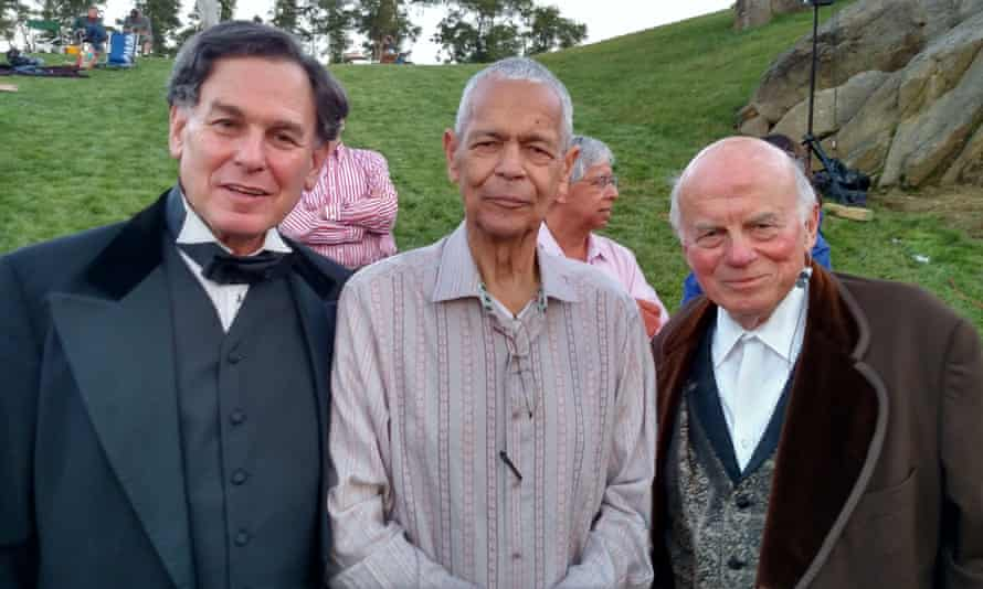 Sidney Blumenthal, left, as Abraham Lincoln