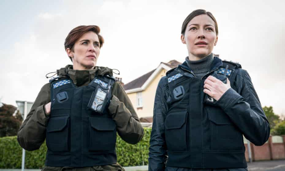 'The most intriguing villain yet?': Kelly Macdonald, right, with Vicky McClure in the latest Line of Duty