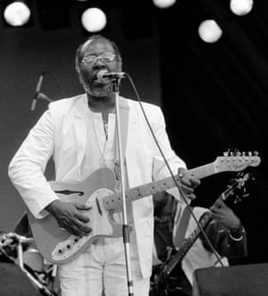 Curtis Mayfield at Glastonbury in 1983
