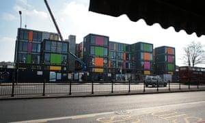 Lewisham's pop-up village for homeless people.