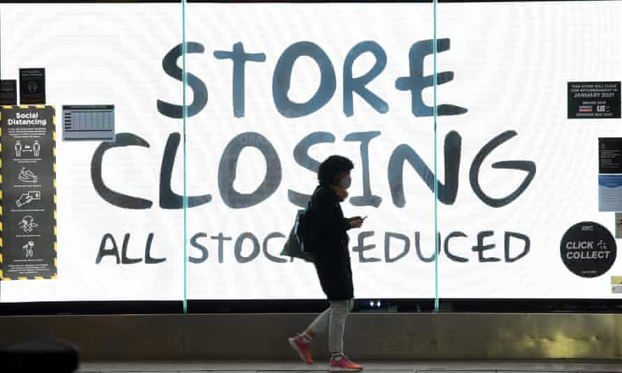 A closing down sign on a shop