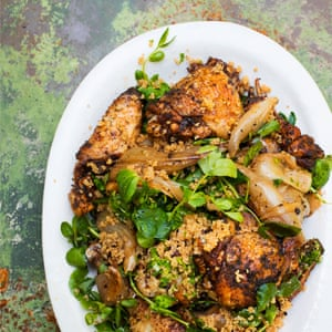 Smokey Chicken Shallots Couscous Nigel Slater Observer Food Monthly June 2019 OFM