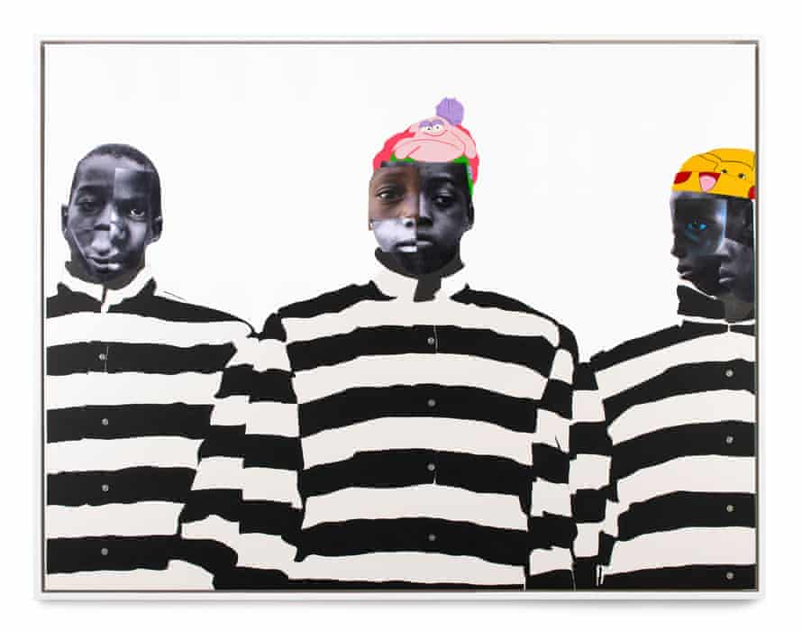 Painfully fragmented and reassembled … A Long Way to Go by Deborah Roberts.