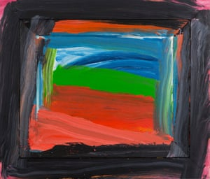 Going to America by Howard Hodgkin (1999).
