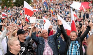 Street protest in Poland over judicial reform