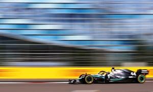 Lewis Hamilton winning the Russian Grand Prix in Sochi.