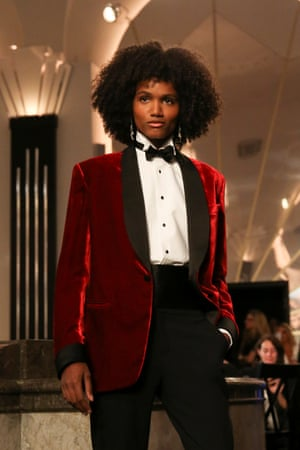 A velvet jacket from the Ralph Lauren collection during 2019 New York Fashion Week.