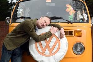 Gavan Naden and Dave, the Type 2 VW campervan.