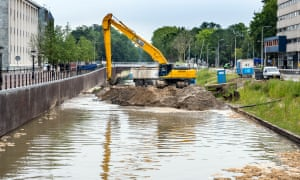 The last of the sand being removed from the canal earlier this year.