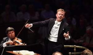 Nuances of colour and emotion … Daniel Harding conducts the Vienna Philharmonic during Prom 72 at the Royal Albert Hall, London.