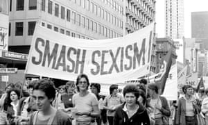 "A ""smash sexism"" banner at an IWD rally"