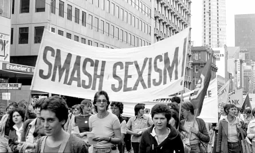 """A """"smash sexism"""" banner at an IWD rally"""