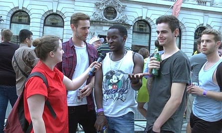 Amy Ashenden speaks to young men for her documentary The Gay Word