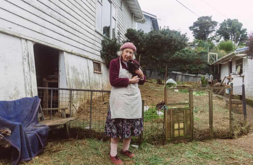 Elaine Cowlin with a rabbit