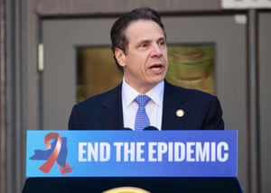 New York governor Andrew Cuomo announces a new plan to tackle his state's HIV epidemic, in April 2015.