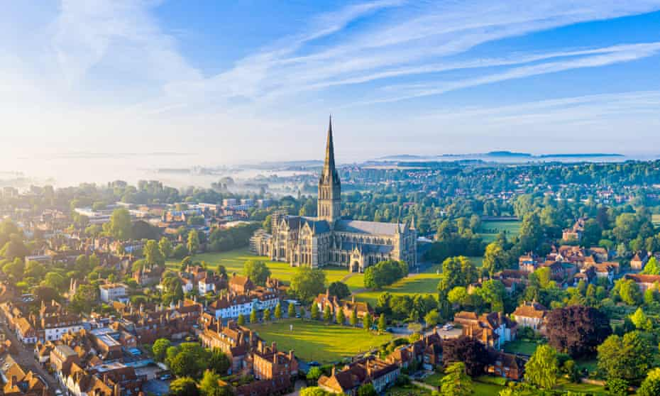 Salisbury's spectacular cathedral dominates the town.