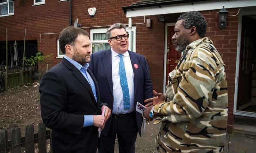 Sion Simon, the Labour candidate for West Midlands mayor, and Tom Watson, Labour's deputy leader, campaigning in Smethwick.