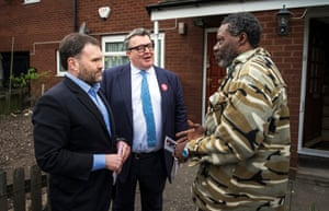 With Sion Simon talking to voter