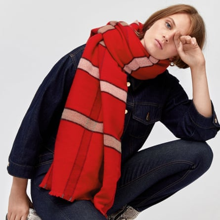 Check blanket scarf, £26, Warehouse.