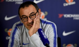 Maurizio Sarri pointed to Chelsea's runs in the Carabao Cup and Europa League as evidence his first season has gone well.