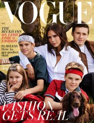The Beckham family shot for Vogue