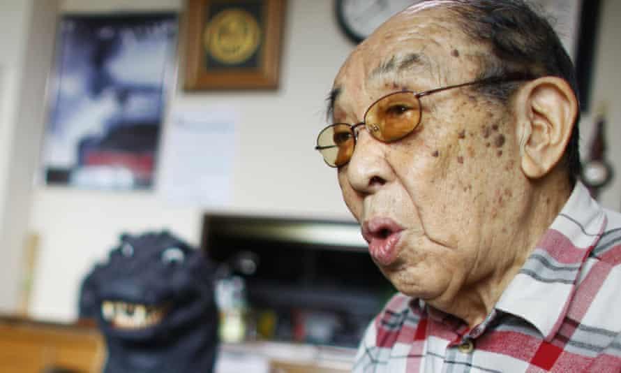 Haruo Nakajima, who first appeared as Godzilla in 1954