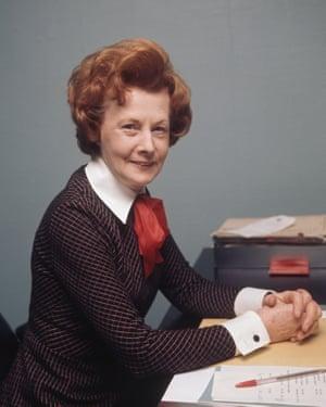 British Labour politician Barbara Castle