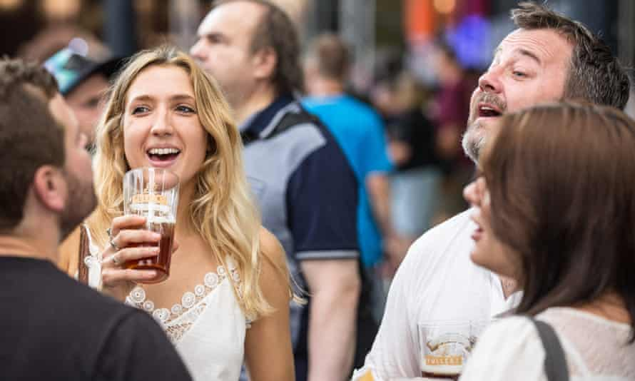 Visitors at the Great British Beer Festival.