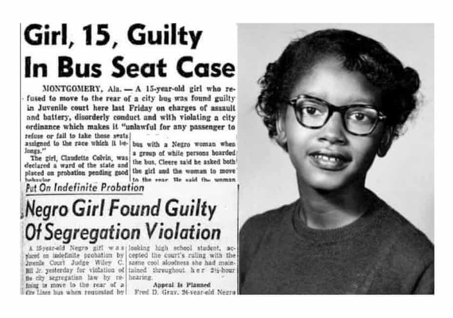 Claudette Colvin: the woman who refused to give up her bus seat – nine  months before Rosa Parks | Society | The Guardian