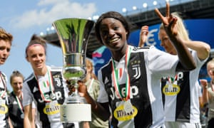 Eni Aluko with the Women's Coppa Italia trophy