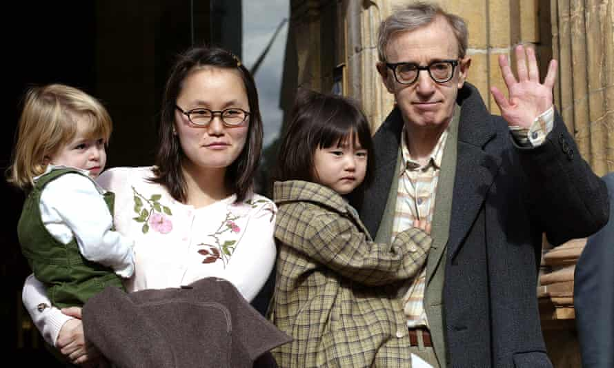 Allen and Soon-Yi Previn with their daughters, Bechet and Manzie Tio, in 2002.