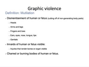 Graphic Violence 18