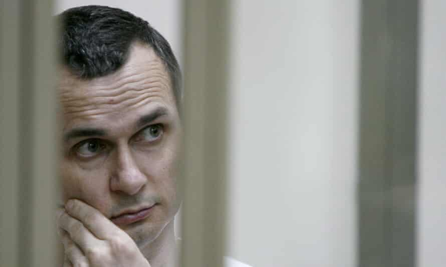 Oleg Sentsov during his hearing at a military court in Rostov-on-Don in 2015.