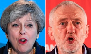 A composite image of Theresa May and Jeremy Corbyn.