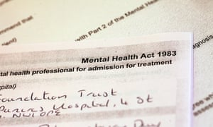 Detention under the Mental Health Act.