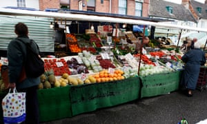 A fruit and veg stall, Oakham market. Commissioned for Home News, MP's expenses