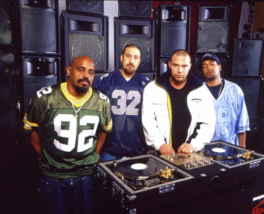 Cypress Hill with DJ Muggs (second right).