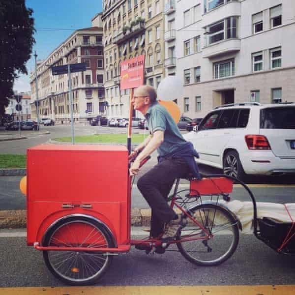 Luca Santini on his bike.