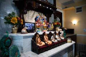 A shrine in the Krishna House in Gainesville. It serves between 4,000 and 5,000 meals each week on the University of Florida campus when school is in session.