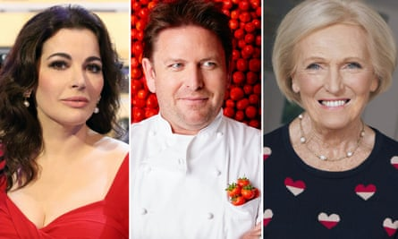 Recipes by TV chefs such as Nigella Lawson, James Martin and Mary Berry will be removed from the BBC website.