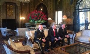 Trump and McMaster at Mar-a-Lago Monday.