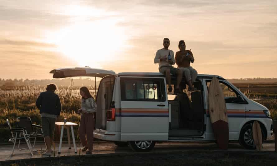 Indie Campers van in Portugal