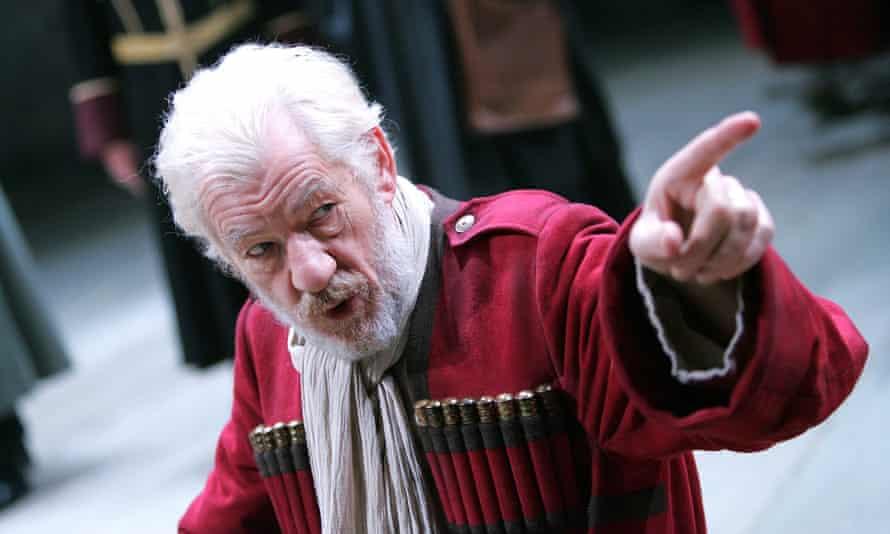 Ian McKellen as King Lear in Royal Shakespeare Company's 2007 production.