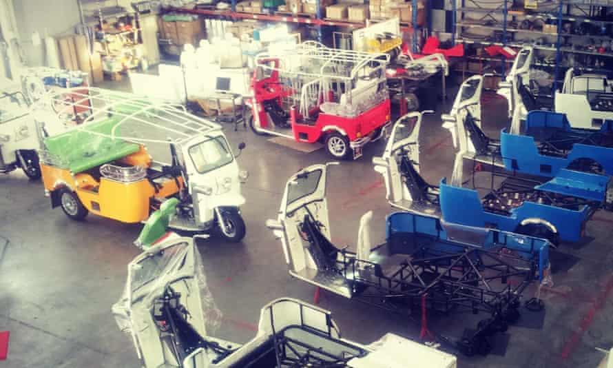 A tuk tuk factory